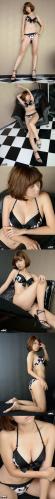 4K-Star [P00254] Photo No.00254 Mana Amano 天野 麻菜 水着(ブラック) 高画質フォト