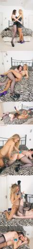 Pantyhosed4U   Michelle and Vicki - Pantyhose party x229